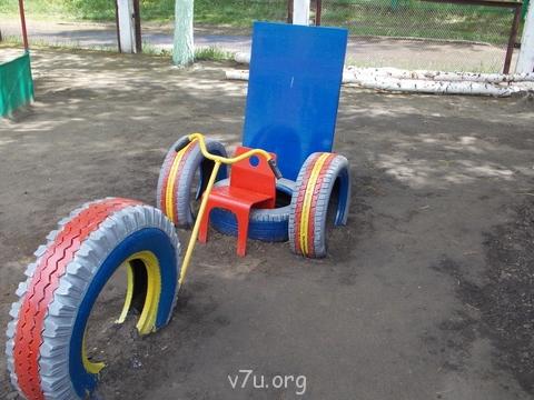 Машинка из шин своими руками для детской площадки